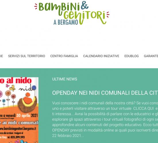 Bambini e genitori a Bergamo