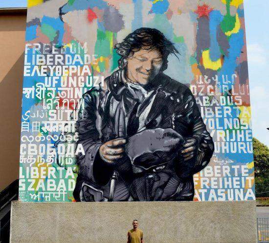 Arte pubblica e memoria Murales Giuseppe Brighenti Brach